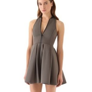 Sleeveless Neoprene Dress with Collar